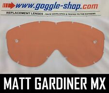 Goggle-shop Reemplazo Lente Spy Alloy / Targa 2 Motocross Gafas Rosa Rojo Tint