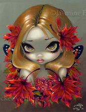 Red Maple Fairy Jasmine Becket-Griffith CANVAS PRINT big eye fantasy lowbrow art