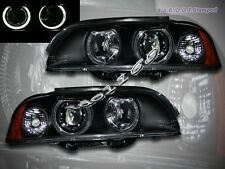 97-03 BMW 5-SERIES E39 PROJECTOR HEADLIGHTS TWO HALO BLACK 4 DOOR