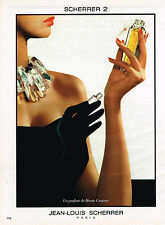 PUBLICITE ADVERTISING 044   1987   JEAN-LOUIS SCHERRER   parfum 2