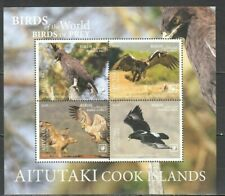 Aitutaki 2019 birds of prey eagles s/s MNH michel bl 118  23.50 euro
