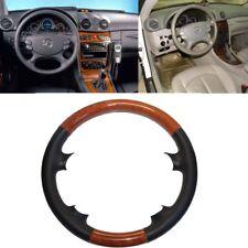 Leder Braun Holz Lenkradabdeckung Mercedes 03-09 W209 C209 CLK R230 SL W219 CLS