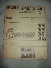 MANUEL DE REPARATION MR 126 ADDITIF / SR211,215,221,225 / RENAULT SAVIEM 1966