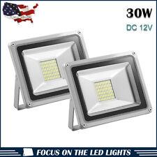 2X 30W LED Flood Light  Cool White Lamp Landscape Outdoor Garden Lights DC 12V