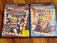 Buzz The Hollywood Quiz and Mega Quiz PS2. New Sealed.
