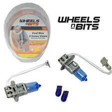 H3 12v 55w HALOGEN HID XENON GAS FILLED BULBS upto 50% BRIGHTER COOL BLUE