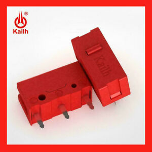 2 PIECES Kailh GM Red Micro Switch Gaming Mouse Buttons Logitech Razer