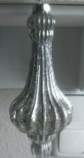 * Weihnachtskugel Kugel Silber Brocante Nostalgie Baumschmuck Shabby Ornament