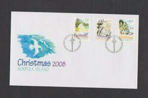 NORFOLK ISLAND 2008  Christmas Norfolk Island FDC Per Scan