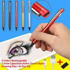 Active Tablet Pen Stylus Touch Screen Drawing Pen 2.3mm + 4 Tip For iPad Sumsung