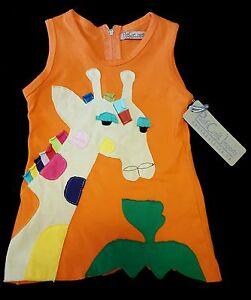 NWT $50 PacifiCraft ONE OF A KIND HandMade Girraffe sleeveless girls sz 12 dress