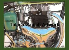 10 x A6 Classic BSA British Brit Motorcycle Motorbike Greetings Cards