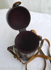 Vintage NIKON NIPPON KOGAKU Brown Leather CAMERA LENS CASE 180mm TOKYO JAPAN