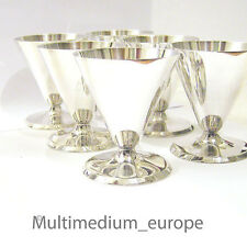 6 ART DECO COCKTAIL Gobelet métal argenté années 30er 6 metal silver plated