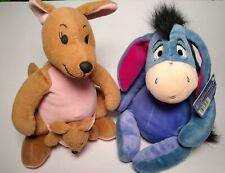 Disney Winnie the Pooh Characters Eeyore And Kenga And Roo Soft Toys Plush