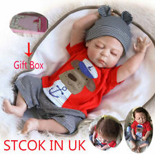 Lifelike Full Body vinyl Silicone Reborn Doll Baby Boy For Sleepping Toys