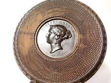 1840 Queen Victoria Portrait Wyon Halliday MEDAL Masons Mallet Lignum Vitae