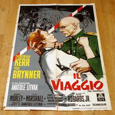 IL VIAGGIO manifesto poster Deborah Kerr Yul Brynner The Journey Sovietico G9
