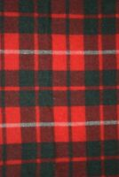 48 x 57.5 inches vtg Wool Throw Blanket Red Green Plaid