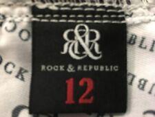 Rock and Republic rose skull print denim shorts size 12