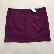 NWT J Crew Purple Mini Skirt Double Serge Wool Blend Pockets Lined 29992 Flaw 12