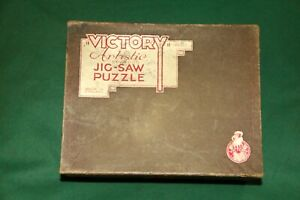 "VINTAGE UK WOOD JIG SAW PUZZLE ""VICTORY"" ARTISTIC 600 pieces MADE IN THE 30's"