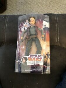 Star Wars Forces of Destiny Jyn Erso Doll Figure With Accessories, NEW