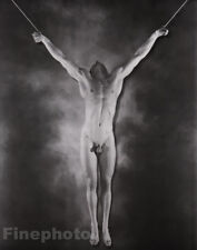 1940/81 Vintage SURREAL MALE NUDE CRUCIFIXION Photo Art GEORGE PLATT LYNES 16x20