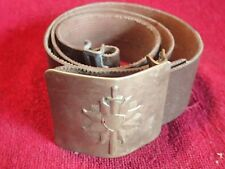 SCARCE early 1990-s MILITARY BELT w BRASS METAL BUCKLE with SWORD LATVIA LATVIAN
