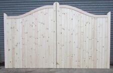 Wooden Softwood Swan Neck Driveway Gates Mortice & Tenoned 6ft 1800mm