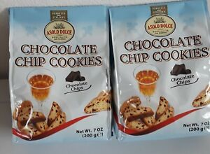 2Bags Italyan Asolo DolceSpecialita Da Forno Chocolate Chip Cookies Best By 3/22