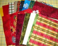 Christmas Charm Square 100% Cotton Quilting Fabric Pack of 20+ per cut fabrics
