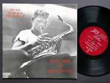 "ZOOT SIMS In Hollywood 10"" LP NEW JAZZ NJLP-1102 US '54 DG MONO Kenny Drew CLEAN"
