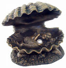 Baby Mermaid Statue Sleeping in Clam Shell with Round simulated Pearl #1857