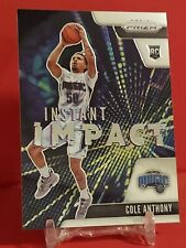New listing 2020-21 Panini Prizm Cole Anthony Instant Impact #12 Rookie RC!