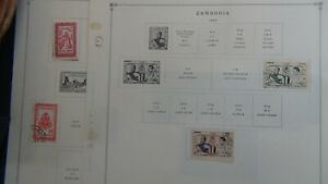 Cambodia stamp collection on Scott Int'l pages to '74 w/ 67 or so stamps