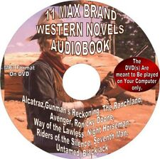 MAX BRAND WESTERN/COWBOY-11 Novels-Audiobook on DVD, MP3 format, The Untamed...