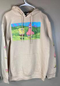 NWT Nickelodeon Spongebob And Patrick Profile Pic Tan Hoodie. Adult Size Large