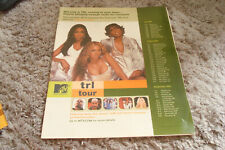 Destiny'S Child 2001 Mtv ad with Beyonce, Nelly, Eve, Jessica Simpson, 3Lw 00004000