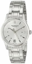 NIB VICTORINOX SWISS ARMY ALLIANCE ANALOG SILVER STAINLES STEEL MOP WATCH 249061