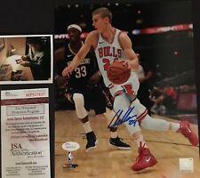 Lauri Markkanen Chicago Bulls Autographed Signed 8x10 Photo JSA WITNESS COA 1