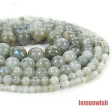Natural Labradorite Gemstone Spacer Beads 15.5'' 2mm 3mm 4mm 6mm 8mm 10mm 12mm