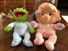 Vintage 1984 Hasbro Muppet Babies Plush - Kermit & Miss Piggy