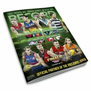 2021 AFL Official Record Magazine Finals Week 1 One