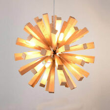New Modern Wooden Flower Ceiling Chandelier Pendant Lamp Lighting Fixture DIY