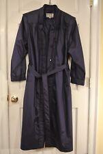 Raincoat Woman's Weatherwise MICKI Trench 15/16 Purple Belt Long Dress Jacket