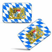 3D Gel Aufkleber Bayern Freistaat Fahne Deutschland Flagge Bavaria Flag Stickers