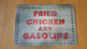 BAM! House of 1000 Corpses Fried Chicken and Gasoline Prop Replica Metal Sign