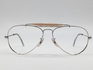 Ray ban B Bausch Lomb USA True Vintage Aviator Outdoorsman Silver 56-14 Medium