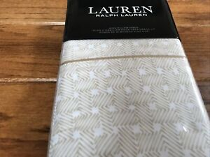 Ralph Lauren - King Pillowcases - Spencer Basketweave Sateen - Wheat - New